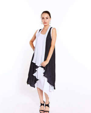 Two Layer Long Vest - G201 102