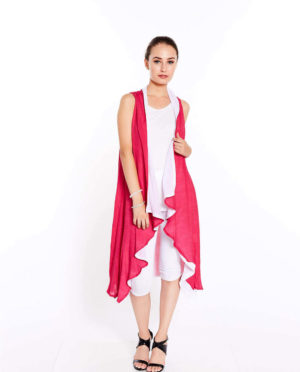 Two Layer Long Vest - G201 108
