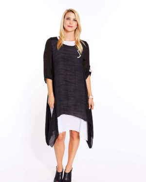 Contrast Layer Dress - G202 102
