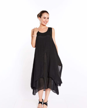 FRONT SLIT LAYER DRESS - G206 102
