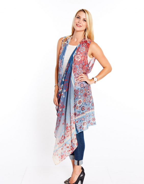 LONG VEST COVER-UP - P288 3204